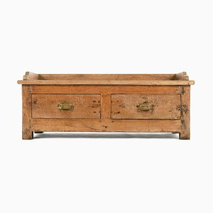 Small Wooden Chest with 2 Drawers