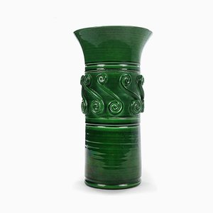 Grüne Vase von Vallauris