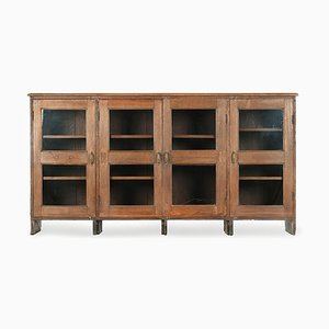 Glazed Wooden Sideboard