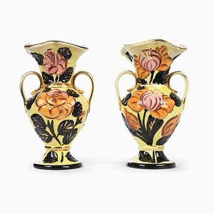 Ceramic Flower Vases from Vallauris, Set of 2