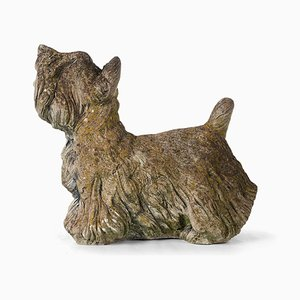 Garden Cement Dog Sculpture