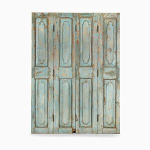 Vintage Patinated 4-Door Room Divider