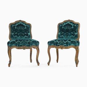 Vintage Stühle im Louis XV Stil von Julien Cohen, 2er Set
