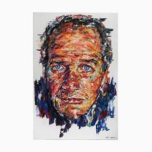Portrait von Paul Newman Öl auf Leinwand von Hom Nguyen