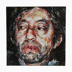 Portrait of Gainsbourg Öl auf Leinwand von Hom Nguyen