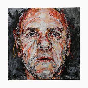 Portrait of Anthony Hopkins Oil on Canvas by Hom Nguyen