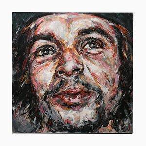 Portrait of Che Guevara Öl auf Leinwand von Hom Nguyen