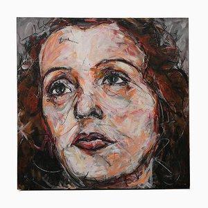 Portrait of Edith Piaf Öl auf Leinwand von Hom Nguyen