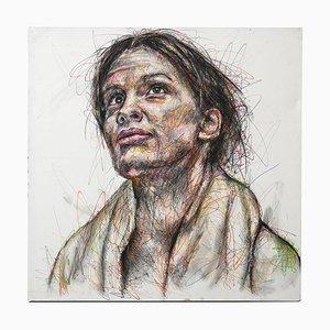 Porträt von Margaret Maggie Fitzgerald Posca auf Leinwand von Hom Nguyen