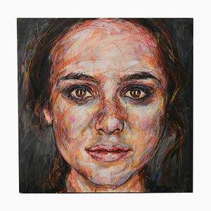 Retrato de Keira Knightley óleo sobre lienzo de Hom Nguyen