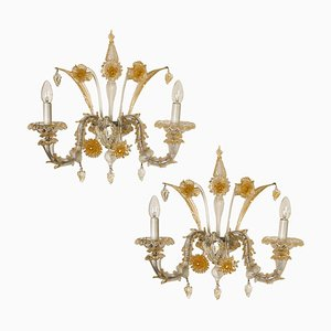 Venetian Murano Sconces by Vintage Murano Gallery, 1960s, Set of 2