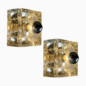 Austrian Hand Blown Ceiling Lamps or Wall Lights, 1960s, Set of 2