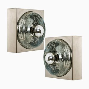 Hand Blown Ceiling Lamp or Wall Light by Doria Leuchten Germany, 1970s