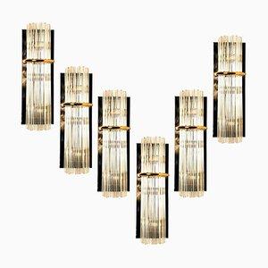 Große moderne Glasstab Wandlampe von Gaetano Sciolari für Lightolier, 1970er