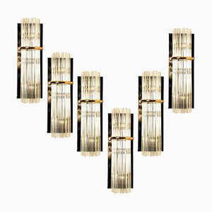 Large Modern Glass Rod Sconce by Gaetano Sciolari for Lightolier, 1970s