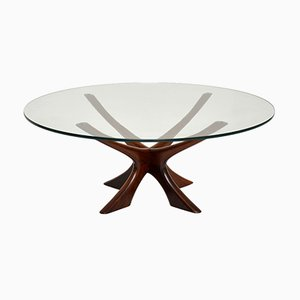 Danish Rosewood Coffee Table by Illum Wikkelso, 1960s