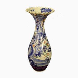 Japanese Glazed and Painted Ceramic Vase, 1920s