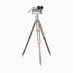Mid-Century Anti-Aircraft Binoculars on Telescopic Stand from TZK, 1950s