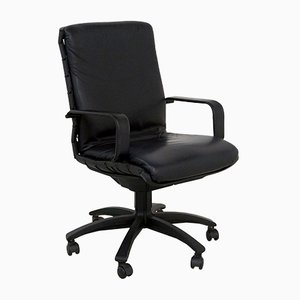 Black Antropovarius Desk Chair by Porsche for Poltrona Frau, 1990s