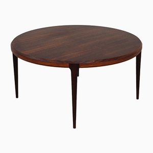 Round Rosewood Coffee Table by Johannes Andersen for CFC Silkeborg, 1960s