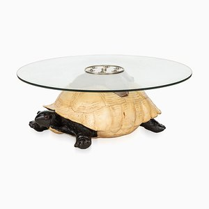 Vintage English Turtle Shaped Coffee Table from Anthony Redmile, 1970s