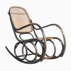 Rocking Chair en Bois Courbé par Michael Thonet pour TON, 1950s