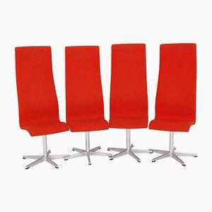 Sedie da pranzo di Arne Jacobsen per Fritz Hansen, Danimarca, anni '80, set di 4