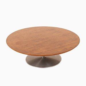 Tavolino da caffè modello Cirque in alluminio e impiallacciato in legno di Pierre Paulin per Artifort, anni '60