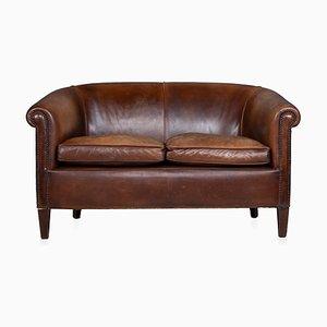 Vintage Dutch 2-Seater Leather Sofa, 1970s