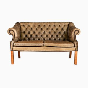 Vintage English Button Back 2-Seater Sofa