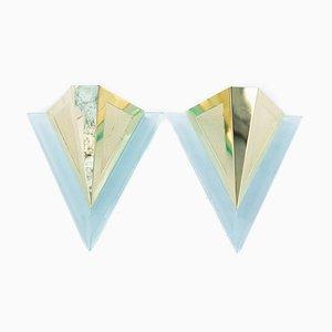 Diamond Shape Sconces, 1970s, Set of 2