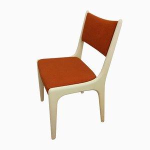 Orange Esszimmerstühle, 1970er, 6er Set