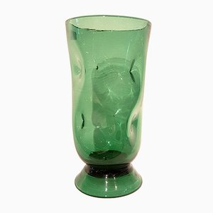 Large Italian Blown Glass Vase by Empoli Milano, 1950s