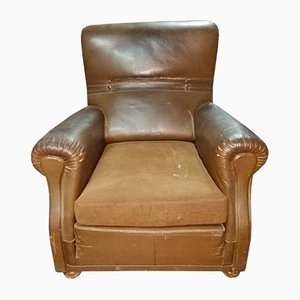 Italian Leatherette Lounge Chair from Poltrona Frau, 1970s