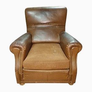 Italian Leatherette Lounge Chair from Poltrona Frau, 1970s