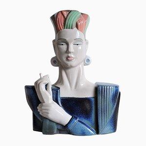 Vintage Spanish Porcelain Bust by Miguel Requena for Porcelanas M. Requena, 1980s