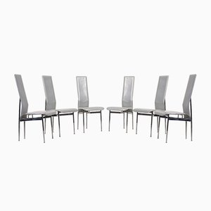 Vintage Italian Dining Chairs by Giancarlo Vegni for Fasem, Set of 6
