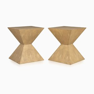 Art Deco Inspired Side Tables by Julian Chichester, 1980s, Set of 2
