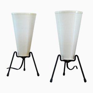 Französische Dreibein Tischlampen von Rotaflex, 1950er, 2er Set