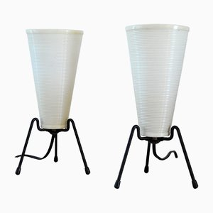 French Tripod Table Lamps from Rotaflex, 1950s, Set of 2