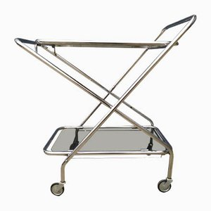 Vintage Chrome Serving Trolley, 1970s