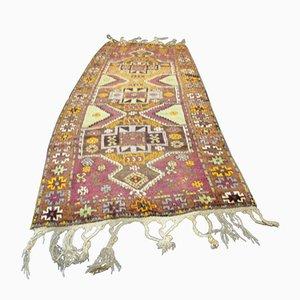 Vintage Turkish Kazak Woolen Carpet, 1950s