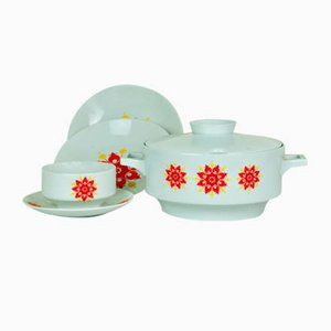 Sauceboat, Gravy Boat, and Bavarian Dishes Set, 1970s