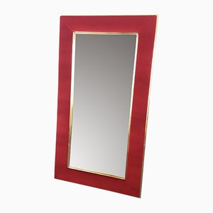Brass and Velvet Mirror, 1970s