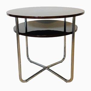 Table Basse Vintage Bauhaus Tchèque en Chrome, 1930s