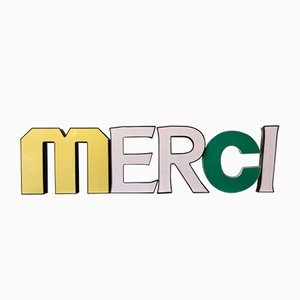Illuminated 3-Dimensional Merci Sign, 1950s, Set of 5
