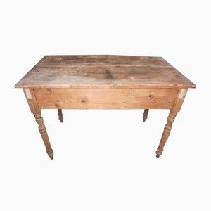 Kleiner Antiker Kiefernholz Schreibtisch