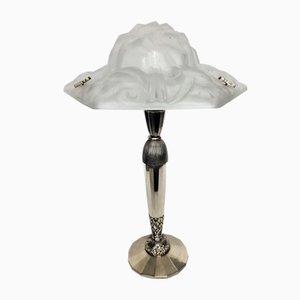 Art Deco Table Lamp by David Gueron for Cristallerie de Compiègne, 1920s