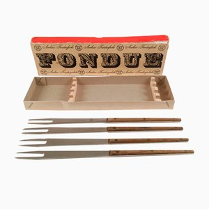 Mid-Century Fondue Set von Carl Auböck für Amboss, 5er Set