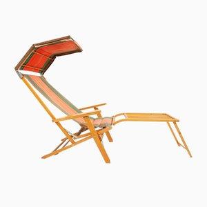 Scandinavian Outdoor Folding Lounge Chair from Luchs, 1950s
